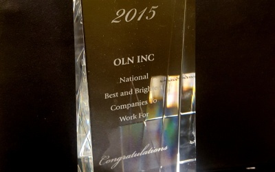 OLN Inc Recognized as Best and Brightest Company to Work For